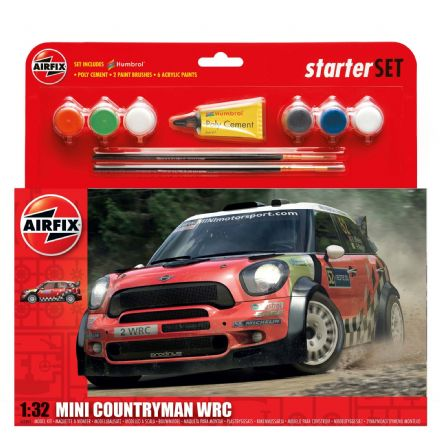 A55304 Airfix MINI Countryman WRC Starter Set 1:32